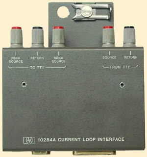 HP 10284A / Agilent 10284A Current Loop Interface, 20mA, 60mA, with an RS-232 and an LPT1 port.