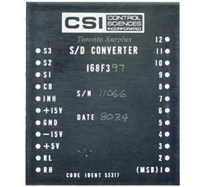 CSI Control Sciences 168F3 / 97 S/D Synchro to Digital Converter