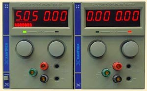 a   7.0V,   6A Xantrex 6007D Dual Regulated DC Power Supply (Current model is XT7-6) 0-7 VDC, 0-6Amp