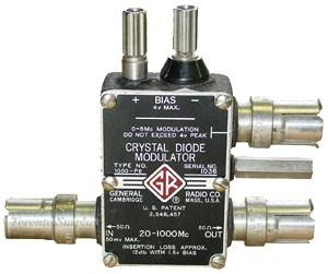 General Radio 1000-P6 / 1000P6 GenRad Crystal Diode Modulator 20 MHz - 1 GHz