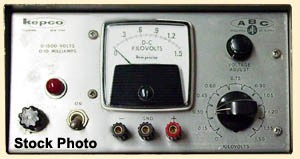 a  10V,   0.75mA Kepco ABC 10-0.75M Power Supply, Half Rack, Bench 0-10 V, 0-0.75 A
