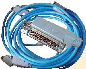 Allen Bradley 1775-CX PLC-3 Expansion Cable Set, Set of 4 Cables for a Four Processor Chassis System w/50 Pin Connectors