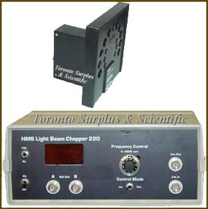DL Instruments / Ithaco 220 HMS Light Beam Chopper with 220A Chopper Head  & Cable (not pictured)