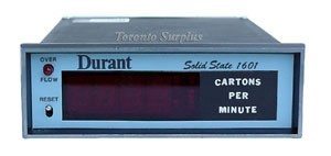 Durant 51601-400 Solid State 1601 Digital Readout Counter Cartons per Minute