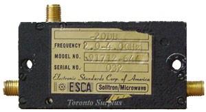 ESCA / Solitron 91712-644 Directional Coupler 2.0-4.0 GHz, 20 db