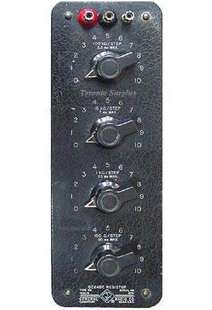 General Radio Decade Resistor GenRad 1432, 1432-F, 1432-Q, 1432-M, 1432-P, 1433 (In Stock)