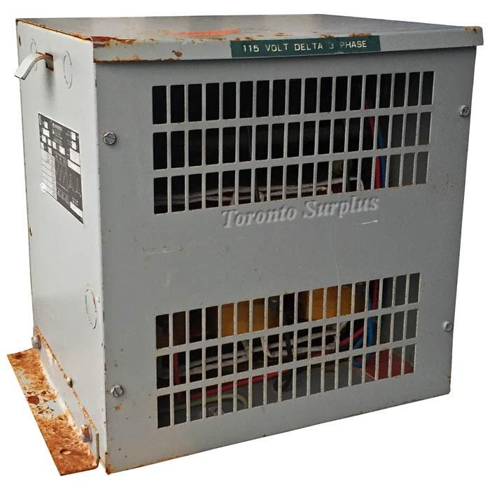 600V Pri., 115V Sec. Hammond 131204 Transformer, Type K 600-115V, 4.5kVA, 3 Phase