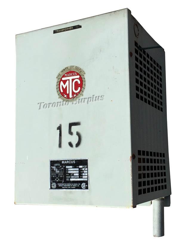 Marcus Dry Type Transformer WF, 600-120/240 VAC, 15kVA 1Ph
