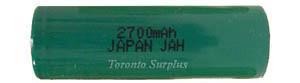 Battery NiCad Nickel Cadmium JAH, 1.2V 2700mAh