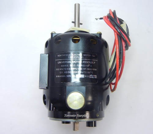 Northfield universal motor assembly 80063 sc c 729922 gp for General motors assembly line job description