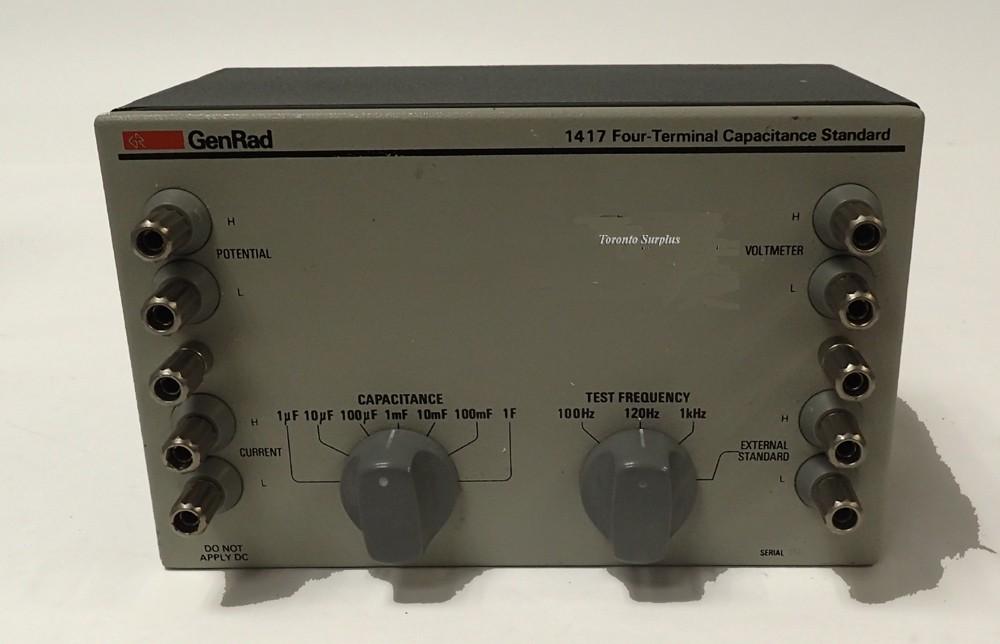 GenRad 1417 Fout Terminal Capacitance Standard 1 uF - 1 F