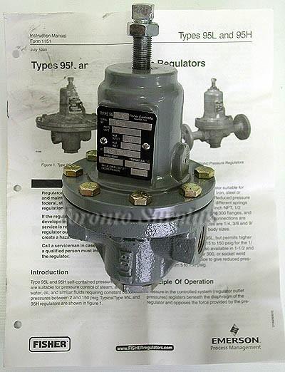 Fisher Type 95H-105 / 95H105 Pressure Regulator rm