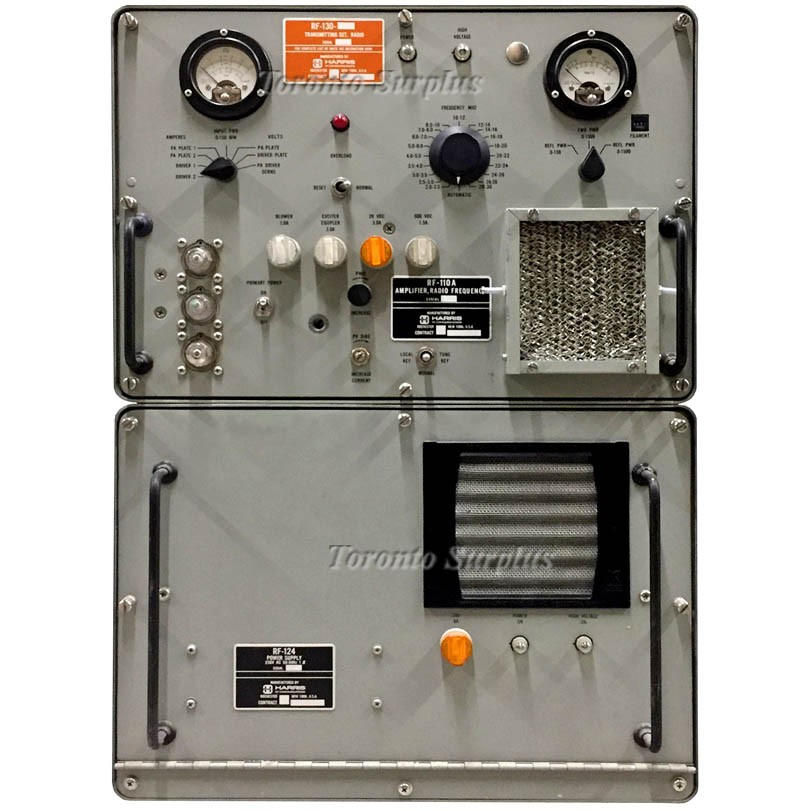 Harris RF-110A 1 kW Power Amplifier with RF-124 Power Supply