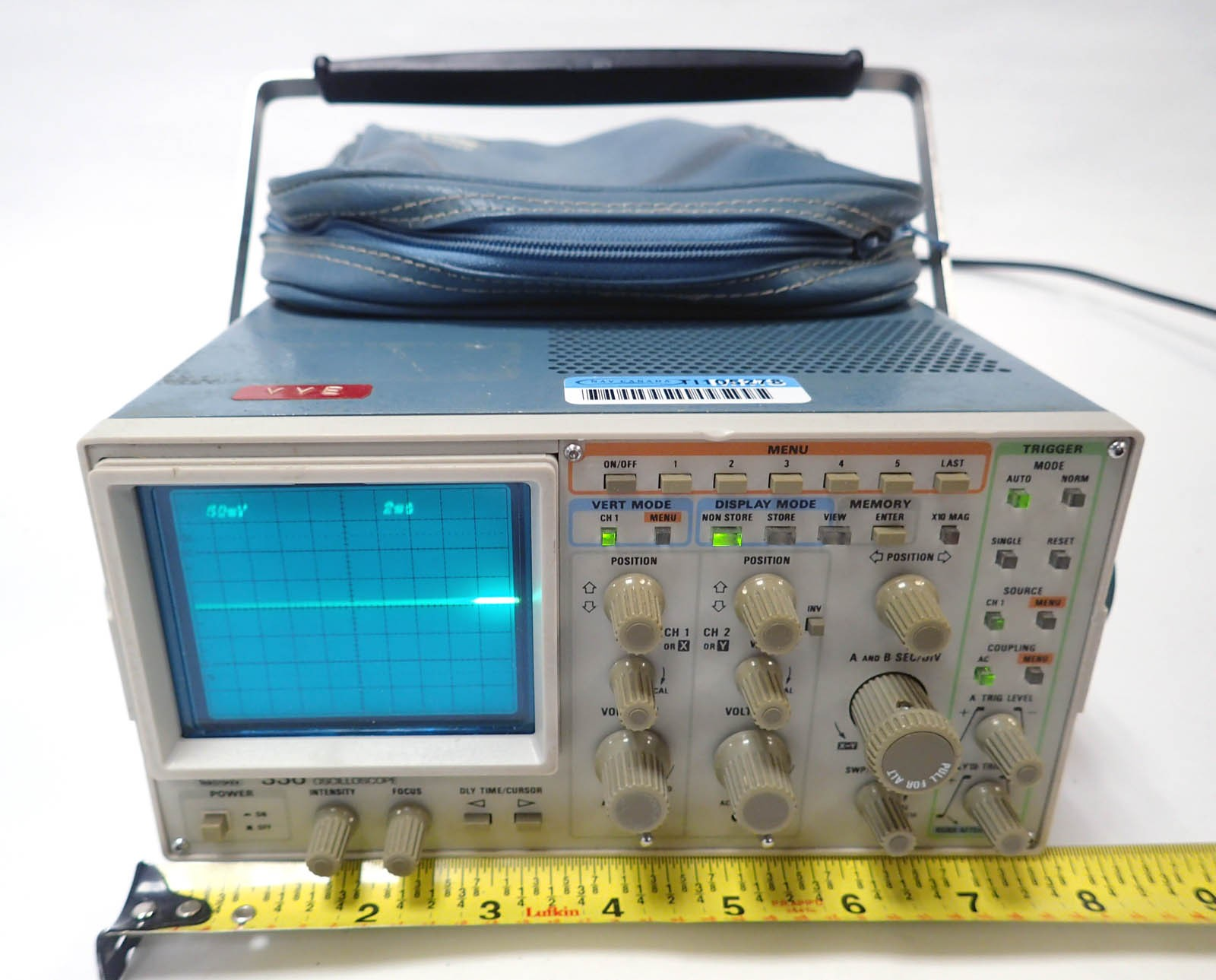 Sony Tektronix 336 Oscilloscope 50 Mhz Dual Trace Digital Storage Adapter With Pouch
