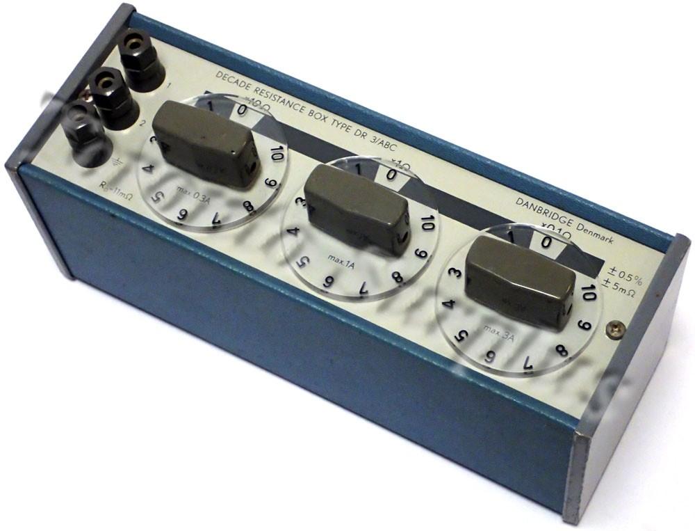 Danbridge Type DR 3/ABC Decade Resistance Box x0.1 Ohms x1 Ohms x10 Ohms