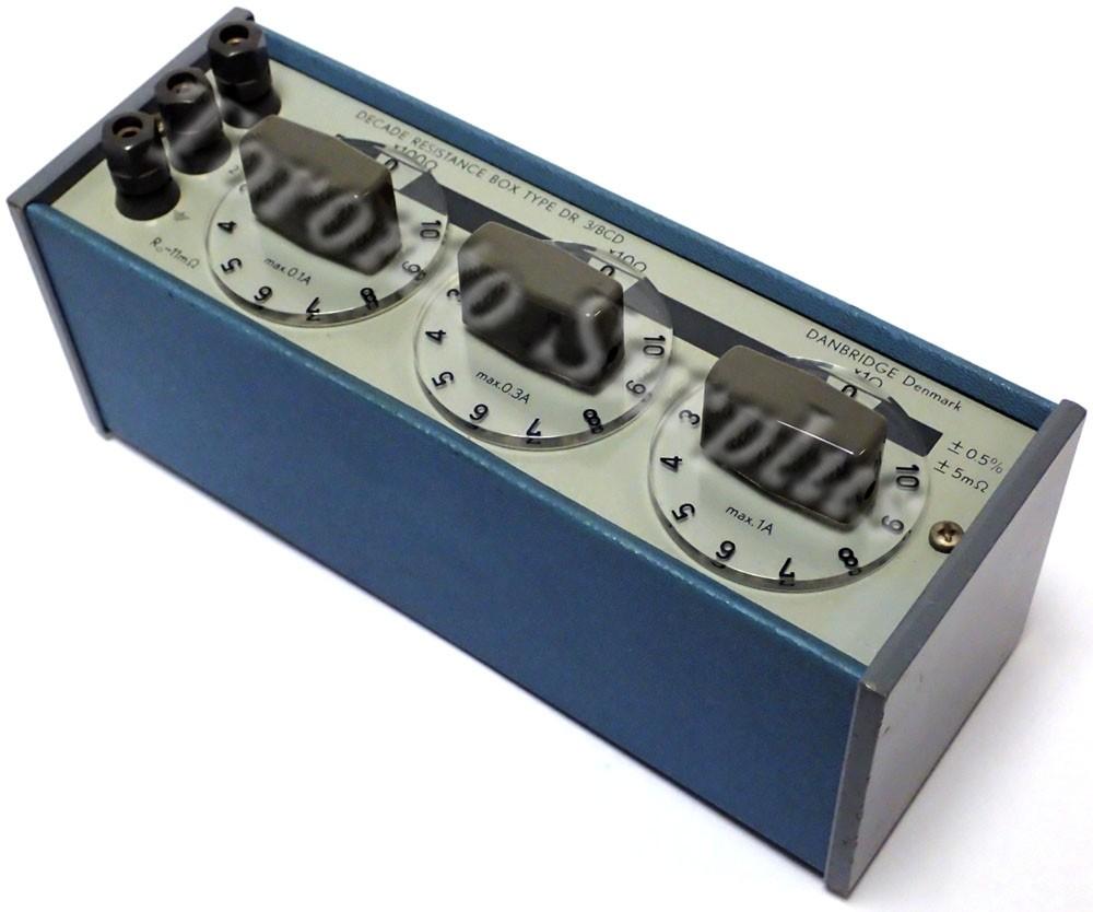 Danbridge Type DR 3/BCD Decade Resistance Box x1 Ohm x10 Ohms x100 Ohms