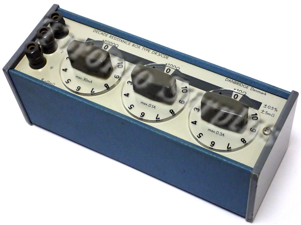 Danbridge Type DR 3/BCD Decade Resistance Box x10 Ohm x100 Ohms x1000 Ohms