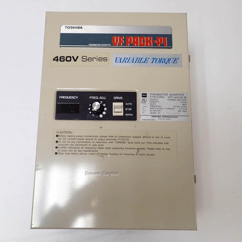 Toshiba VF Pack-P1 460V Series Variable Torque Transistor Inverter 3 Phase