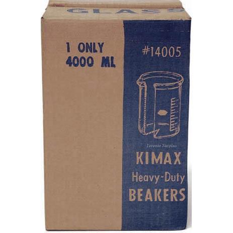 Kimble Products 14005-4000 KIMAX Heavy Duty #14005 4000ml Glass Beaker