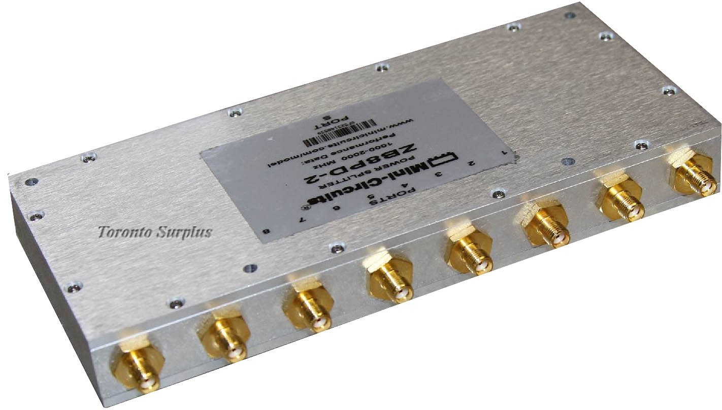 Mini-Circuits ZB8PD-2 / ZB8PD2 Power Splitter / Combiner 1000-2000 MHz