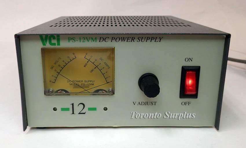 a VCI PS-12VM. 10-15V, 0-12A Adjustable Regulated Power Supply (Default)