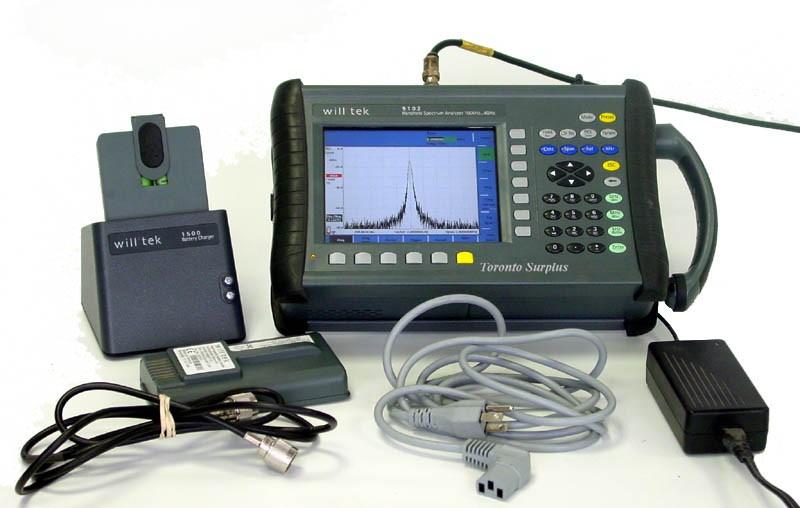 Network Analyzer Hand Held : Willtek aeroflex handheld spectrum analyzer khz