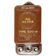 General Radio 500H / 500-H GenRad Fixed Resistance Standard
