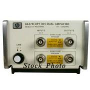 HP 8447A / Agilent 8447A Amplifier, Opt 001 Dual Preamplifier 0.1-400 MHz