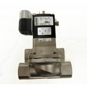 Burkert 0282 A 3/4 NBR SS, NPT 1/2 PMAX230PSI Servo-Assisted Solenoid Valve with Isolated Pilo