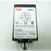 ABB / SSAC FS590 Solid State Time Delay, Flasher, Relay, 120 VAC/DC, BNIB / NOS