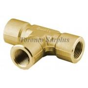 Swagelok B-8-T  Brass Pipe Fitting, Tee, 1/2 in. Female NPT