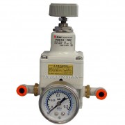 "SMC IR2010-N02 / IR2010N02 Series IR2000 Precision Regulator 150PSI with 1/4"" SMC Quick Fitting & 30 PSI Pressure Gauge"