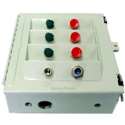 DC Distribution Box with 106-0522T-A DC Power Surge Protector & Marathon Special Products 1323580 Terminal Block