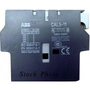 ABB CAL5-11 Auxiliary Block Contact Relay, 1NO/1NC, Side Mount, For Use with A/AE/AL9-75 Contactor