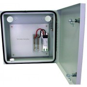 Outdoor Aluminum Enclosure with 106-0522T-A DC Power Surge Protector, Bus Bar and Ground Block NEW / NOS