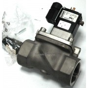 """Burkert 0282 2-Way Stainless Steel NPT 1 1/2"""" Solenoid Valve 170PSI with Type 2508 Electrical Connection"""
