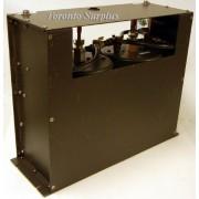Sinclair Technologies YA3-01260-01 / TJ3212 UHF 2 Cavity Duplexer with 2 Dual Ferrite Isolators 13213A  and Heatsinks, Rack Mount Box,  Frequency TX: 421-7625, TX: 421.4250 MHz