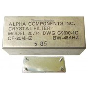 Alpha Components 20774 DWG G9800-1C Crystal Filter