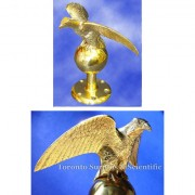 American Eagle Flag Pole Topper - Solid Brass, Government Issue NSN: 8345-00-205-0386