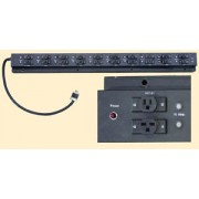 Tectol TE-102A Industrial Grade Heavy Duty Power Bar - 10 x 120V Outlets, 10 x 208V Outlets, 1 Fuse per Outlet
