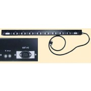 Tectol TE-102A-2 Industrial Grade Heavy Duty Power Bar - 8 x 120V Outlets, 2 x Blank Outlets