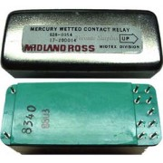 Midland Ross 48V Mercury Wetted Contact Latching Relay, 628-0054, 17-200014