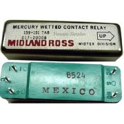 Midland Ross 12V Mercury Wetted Contact Standard Relay, 159-151 TA8, 017-20008