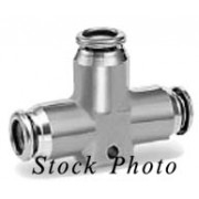 SMC KQGT07-00 / KQGT0700 KQGT Series Stainless Steel Union Tee, Applicable Tubing 1/4 BRAND NEW / NOS